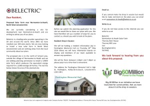 Resident mailshot - Normanton-le-Heath Solar Farm